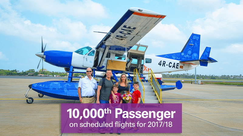Cinnamon Air's 10,000th passenger for 2017/18