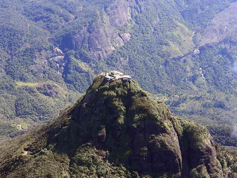 View of the buildings on the peak of Sri Pada