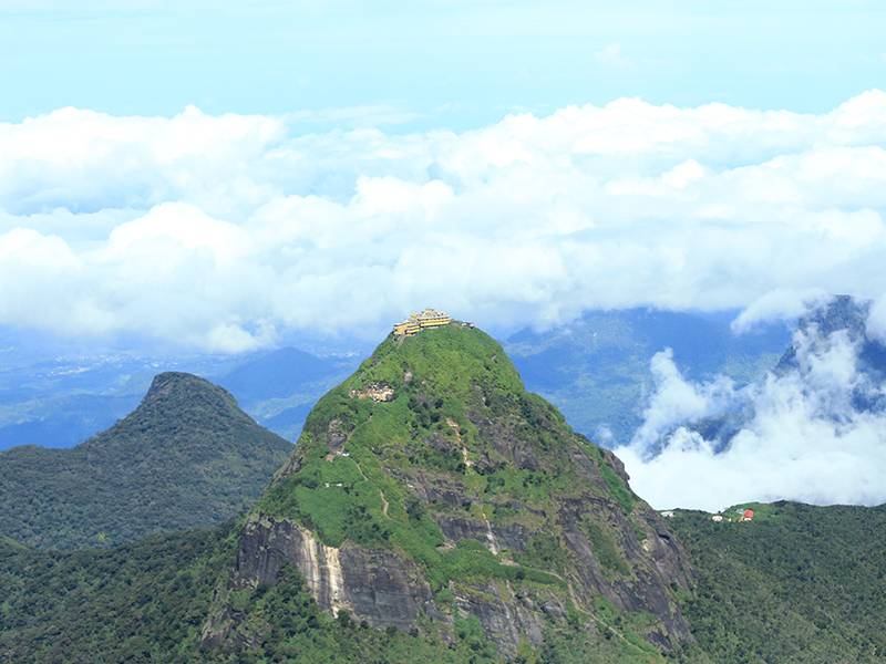 Adam's Peak surrounded by White Clouds