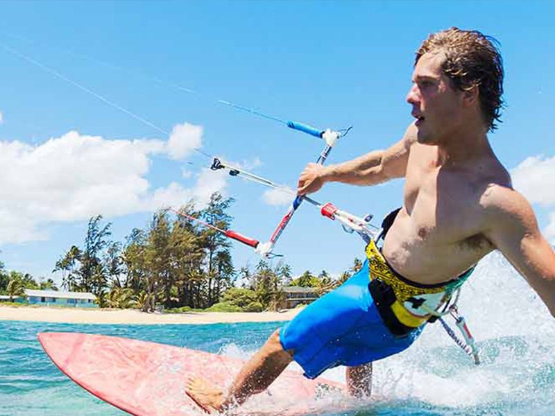 A person wakeboarding in Bentota