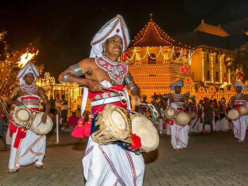 Traditional Drummers at Kandy Esala Perahera