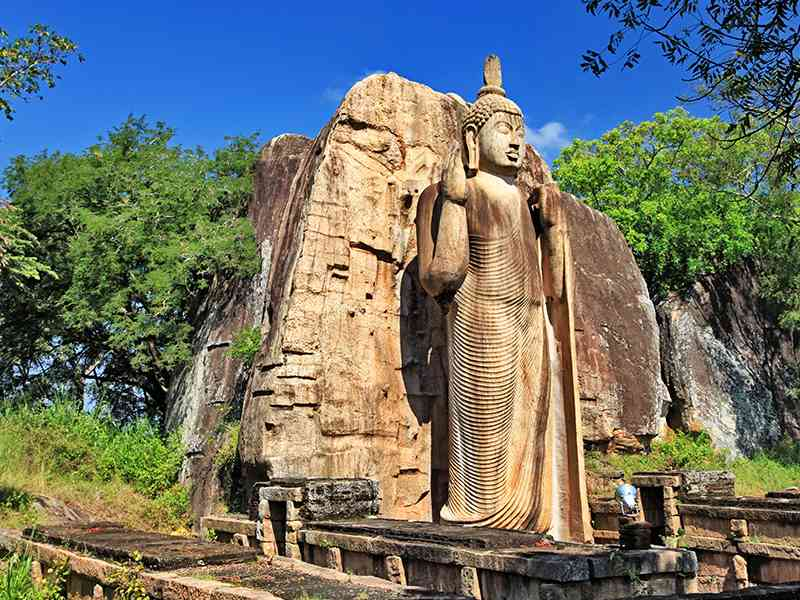 Elegantly crafted Aukana Buddha Statue at Anuradhapura