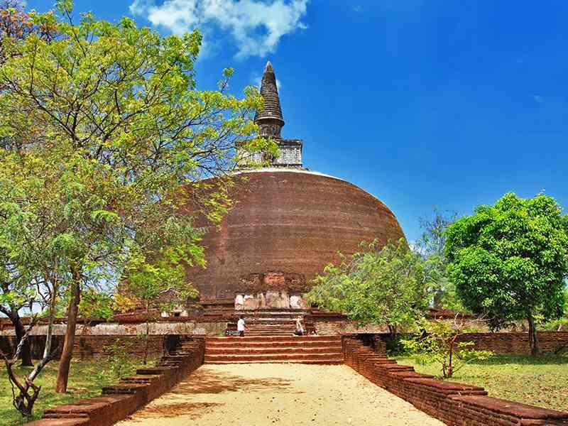 Abhayagiri Dagoba in Anuradhapura Heritage Site