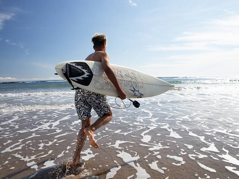 Surfing in the East Coast