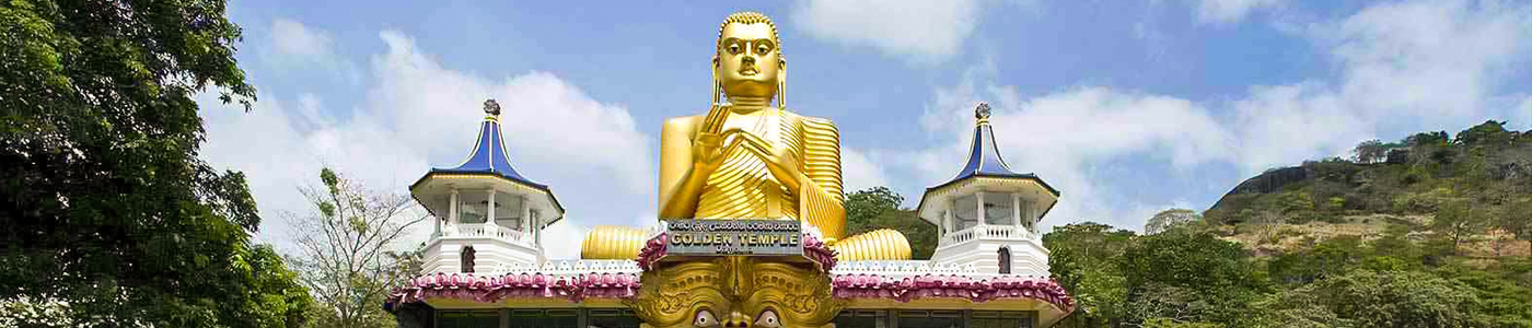 Golden Buddha statue in Dambulla
