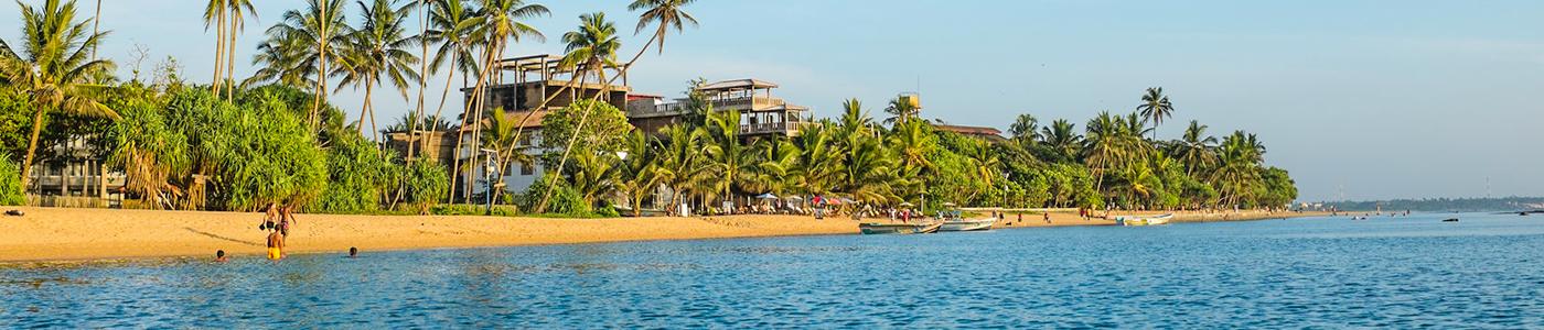 Beautiful beaches in Beruwala Sri Lanka