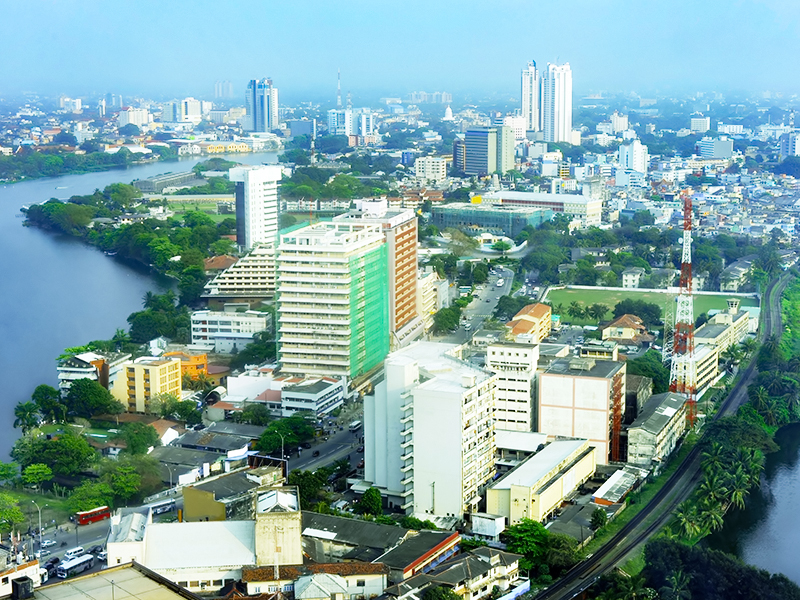 Aerial view of the beautiful city of Colombo